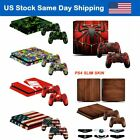 New PS4 Slim Sticker Decal Skin Kit for Playstation4 Slim Console & Remote Cover