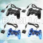 Fits Black Blue Twin Shock Game Controller Joy Pad for Sony PS2 Playstation 2 2x