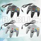 Fits New USB Controller Game System Console for Nintendo 64 N64 Black Grey 2x
