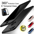 For iPhone 8 Coupled with 7 6S 360° Protective Case Shockproof Slim Cover+Tempered Glass