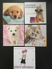 Birthday Cards Male Female Pack - 5 FOR £2 - Dog Cat Pet Humour Cute Traditional