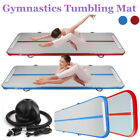 Inflatable Gym Mat Air Tumbling Track Gymnastics Cheerleading Yoga Pad Mat+ Pump image