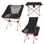 US Portable Chairs UltraLight Seat Stool Fishing Table Aluminum Camping Hiking