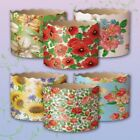 Set 6 Easter Bread Baking Paper Molds Forms Paska Kulich Panettone Cakes Flowers