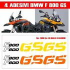 KIT 4 ADESIVI BMW F800 GS SERBATOIO CARENA MOTO STICKERS DECAL ADHESIVES