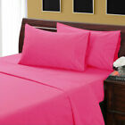 6 PC Sheet Set US RV Sizes Hot Pink Solid 1000 TC Egyptian Cotton