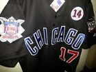 Brand New! Black! Chicago Cubs Majestic #17 Kris Bryant 3patches SEWN Jersey MEN