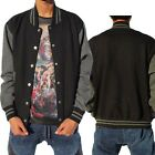 1 NEW PROCLUB VARSITY JACKET BASEBALL BLACK/CHARCOAL S-7XL 1PC