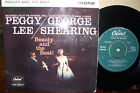PEGGY LEE/GEORGE SHEARING,  BEAUTY AND THE BEAT,  CAPITOL RECORDS 1959  EX