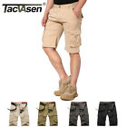 TACVASEN Tactical Mens Casual Working Cargo Shorts Military Cotton Pockets Pants