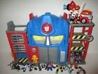Transformers Rescue Bots Optimus Prime Fire House Station w Truck & 16 Figures