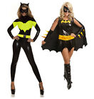 I-CURVES Super hero Batgirl Fancy Dress costume Outfit Cape and mask,Size 8-10