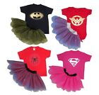 Child Girls Superhero Fancy Dress Costume Hero Inspired Comic Book DC Halloween