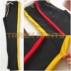 HOT! MEN TRACK PANTS COMFORTABLE STRETCH W/ BOTTOM SIDE ZIPPER