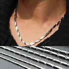"Men's 316L Stainless Steel Titanium Chain Necklace 2mm 3mm 4mm 22"" NEUS"