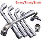 Car Repair L-Type Double End Angled Hex Socket Wrench Spanner Chrome Hand NEUS