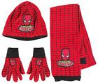 Boys Marvel Comics Amazing Spiderman Fleece Hat Scarf & Gloves Set 1 to 10 Years