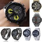Men's Fashion Luxury Watch Stainless Steel Sport Analog Quartz Wristwatches NEUS