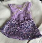 Anerican Girl Doll Isabelle's Purple Leotard And Sparkly Skirt Set!
