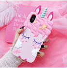 3D Unicorn Silicone Phone Case For iPhone X 5 6 7 8 Samsung S8 Huawei Xiaomi LG
