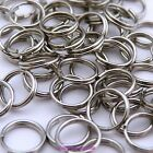 50 or 200 x Dull Silver Tone Alloy Double Loop Split Open JumpRings Findings