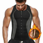 US Men's Belt Top Sportwear Body Fat Burner Vest Sauna Sweat Shaper Weight Loss