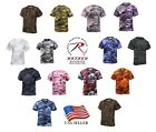Camo T-Shirt Military Tee Short Sleeve Camouflage Army Tactical Uniform Tshirt image