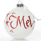 White Glass Personalised Christmas Bauble