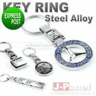 CHROME STEEL ALLOY KEY RING FOB KEY CHAIN for MERCEDES BENZ A C E ML G CLASS