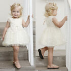 Neborn Baby Girls Bow Party Princess Prom Pageant Wedding Tutu Dress Kid Clothes