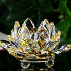 Lotus Crystal Glass Figure Paperweight Ornament Feng Shui Home Decor Collection