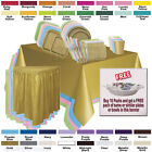 Disposable Solid Color Party Tableware - Buy 10 Packs Get FR