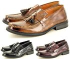Men's MOD Retro Vintage Style Polished Faux Leather Tassel Loafers Shoes UK 7-11