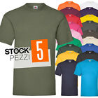 pacco 5 magliette da stampare stock t shirt cotone fruit of the loom valueweight