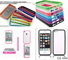 NEW iPHONE 5S & iPHONE 5 COMPATIBLE BUMPER RIM COVER CASE WITH METAL BUTTONS