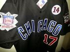 Brand New Black Chicago Cubs Majestic 17 Kris Bryant 3patches SEWN Jersey MEN