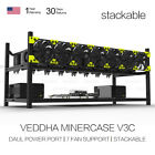 Veddha 6/8GPU Mining Rig Aluminum Case Stackable Open Air Frame ETH/ZEC/Bitcoin