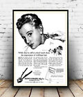 Hair Clippers : Vintage haircare Advert , poster, Wall art, poster, reproduction