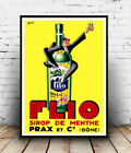 Flio Sirop de Menthe : Vintage  Ad , poster, Wall art, poster, reproduction.