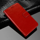 (Red)Premium PU Leather Flip Case Wallet Stand Cover For Various Phone Models