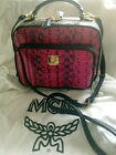 MCM BI-COLOR PYTHON LEATHER CROSSBODY BAG FOR HERITAGE TOTE HOBO STUDS BACKPAC