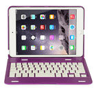 Aluminum Rotating Stand Case Cover w/ Bluetooth Keyboard ONLY For iPad Mini 1