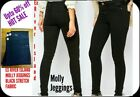 Ex River Island Women Black Molly Reform Jeggings New Cut label 60% OFF RRP £40