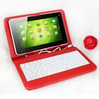 "KOCASO PU Leather Cover Case Stand With Mini USB Keyboard For 7"" Inch Tablet PC"
