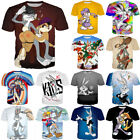 Women/Men Bugs Bunny Lola Funny Cartoon 3D Print Casual T-Shirt Tee Short Sleeve