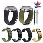3 RING PVD Coate Nylon Sport Watch Strap Band For Pebble Time Round Ticwatch 2/E