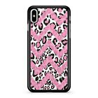 Pink Chevrons Spotted Leopard Print Animal Camouflage 2D Phone Case Cover