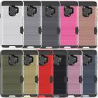 Shockproof Brushed Wallet ID Card Slot Holder For Samsung Galaxy S8 S9+ S7 Edge