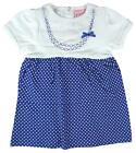Girls Baby Chloe Louise Lace Trim Polka Skirt Cotton Dress Newborn to 9 Months