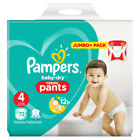 Pampers Baby Dry Pants Größe 4 Maxi 9-15kg Jumbo Plus Pack, 72 bis 288 Windeln